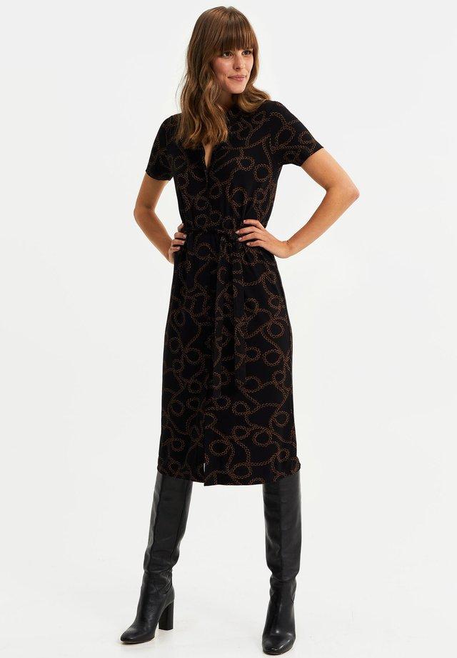 OVERHEMDJURK - Robe chemise - black