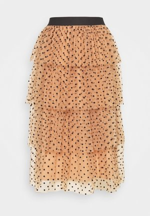LAYER MIDI SKIRT - A-Linien-Rock - eggnog/cream/black