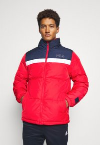Fila - LANDOLF PUFFED JACKET - Träningsjacka - true red/black iris/bright white - 0