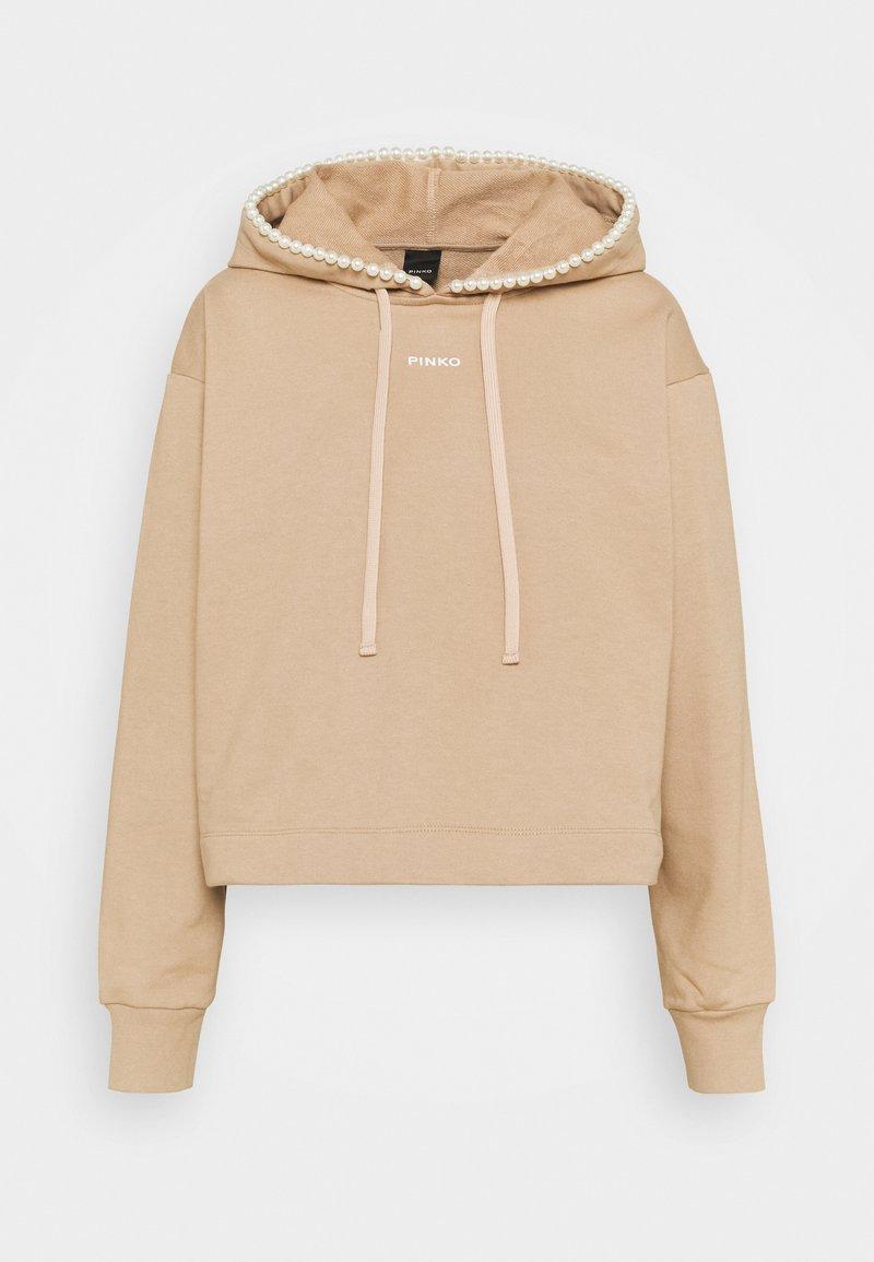 Pinko - ACTORS FELPA - Sweatshirt - beige asinello
