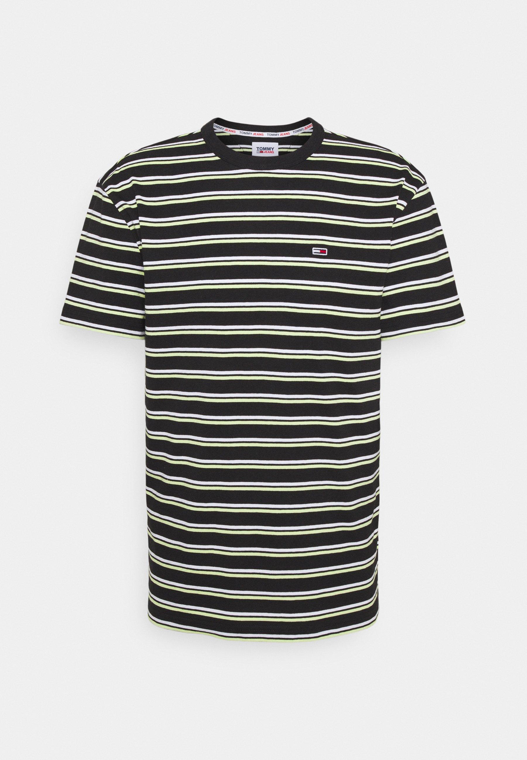 Homme TWO TONE STRIPE CLASSIC TEE - T-shirt imprimé