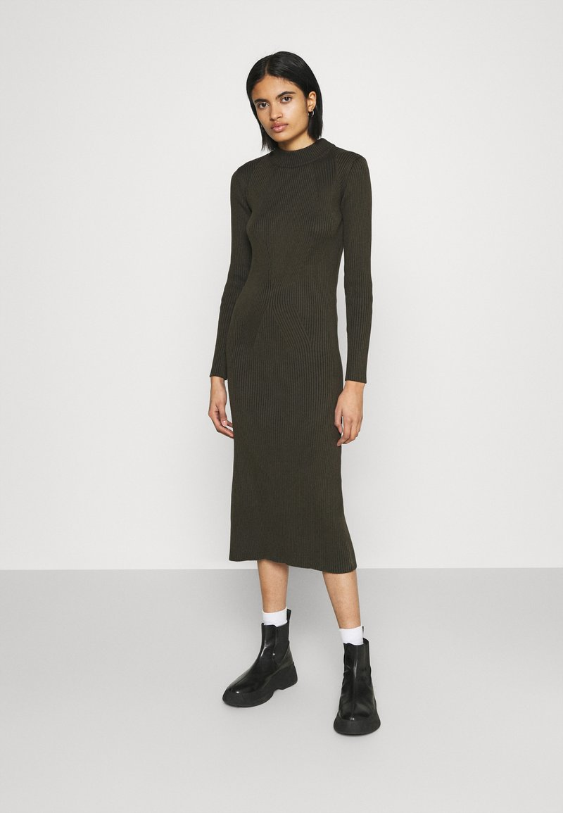 G-Star - PLATED LYNN DRESS MOCK - Shift dress - algae
