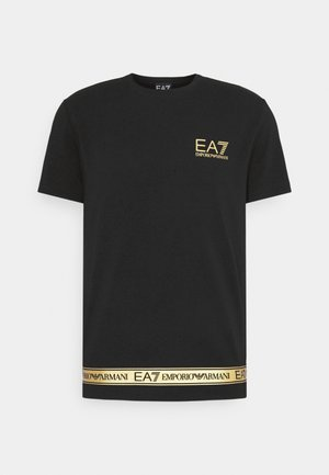 T-shirt med print - black/gold