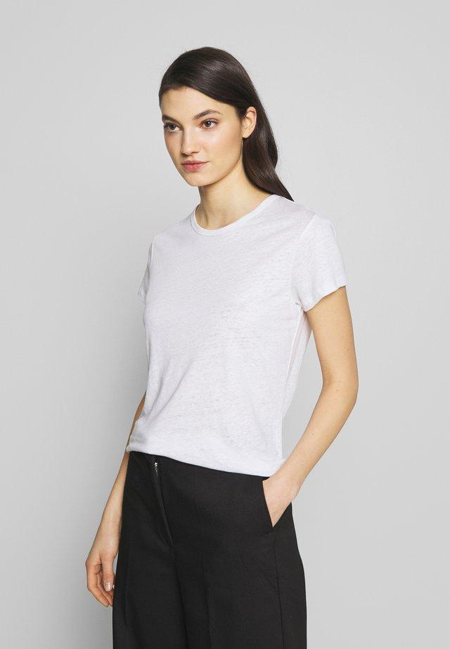 HAZEL TEE - Jednoduché triko - white