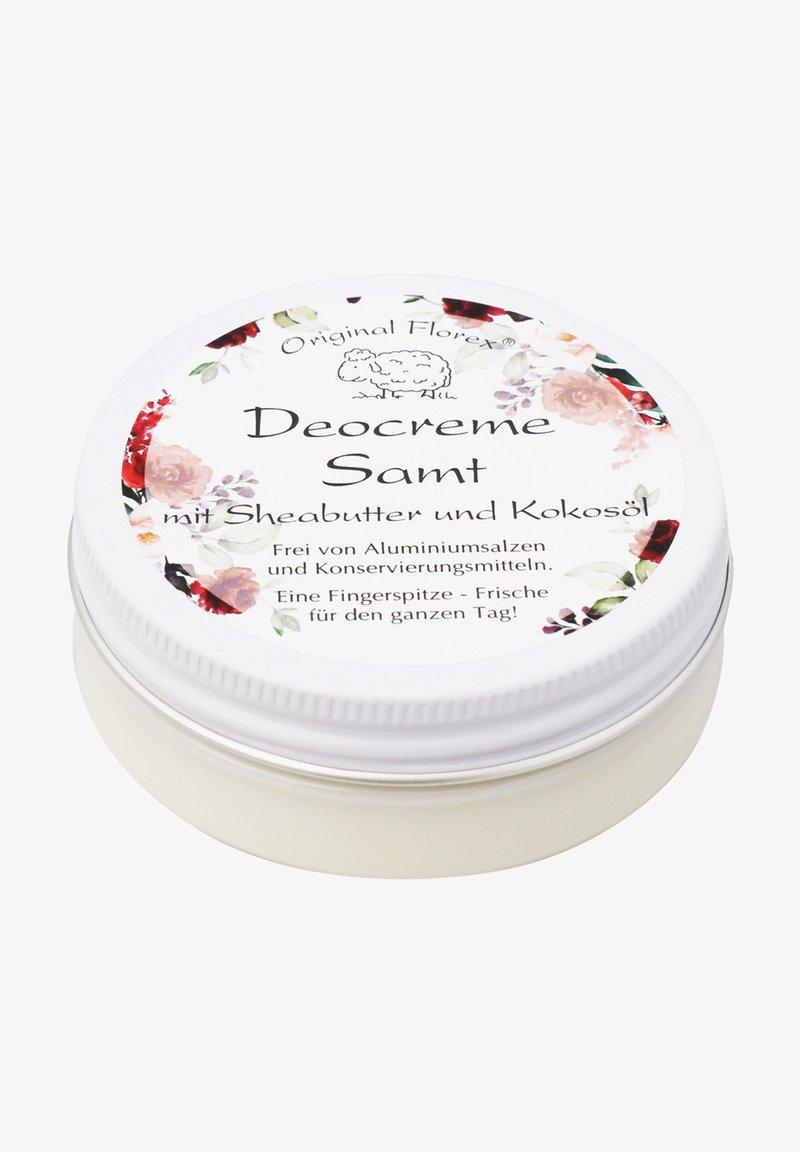 Florex - DEOCREME SAMT MIT SHEABUTTER UND KOKOSÖL 40 G - Deodorant - -