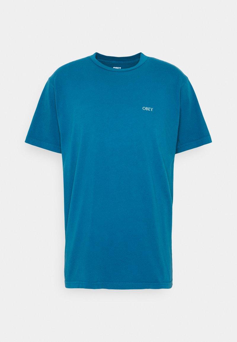 Obey Clothing - DECO FLOWER - Print T-shirt - blue sapphire