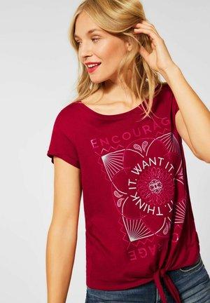 KNOTEN - Print T-shirt - rot