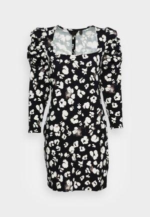 FLORAIN NECK PRINTED DRESS - Day dress - black