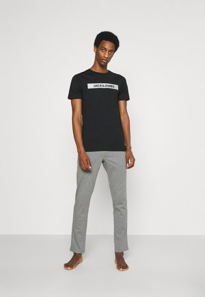 JACSIMON LONG PANTS - Yöasusetti - grey melange/black