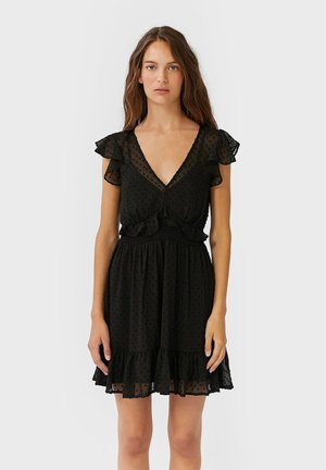 VOLANTS - Day dress - black