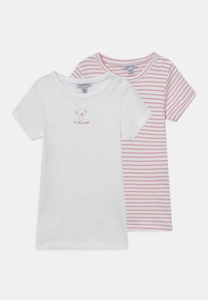 GIRL 2 PACK - T-shirt print - brilliant white