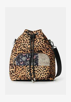 SACK BAG ANIMAL PRINT - Taška spříčným popruhem - brown