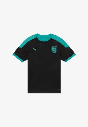 ÖSTERREICH ÖFB TRAINING - Oblečení národního týmu - black/blue turquoise