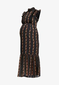 Hope & Ivy Maternity - DROP HEM PENCIL WITH TRIM DETAILS - Maxi šaty - black - 4