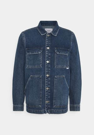 SAFARI DENIM JACKET - Spijkerjas - stone blue