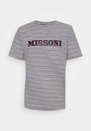 SHORT SLEEVE - T-Shirt print - white/dark blue