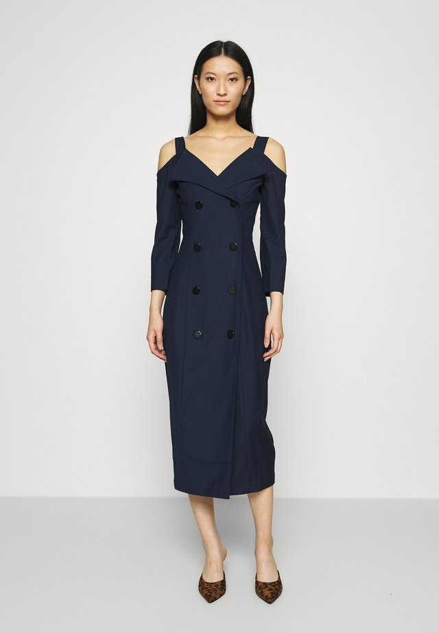 OFF THE SHOULDER JACKET DRESS - Korte jurk - true navy