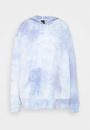 HOODIE PLUS - Long sleeved top - light racer blue/white