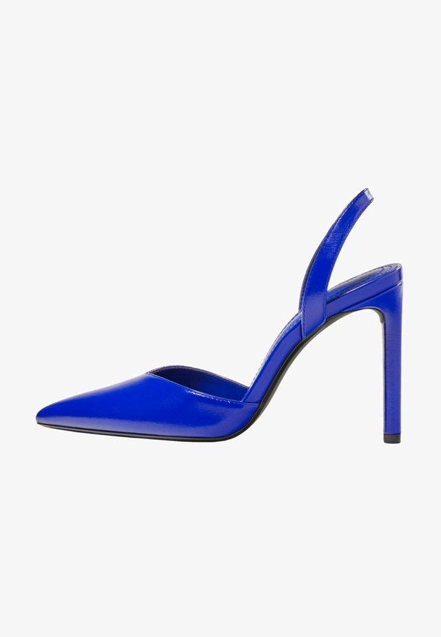 Escarpins à talons hauts - metallic blue