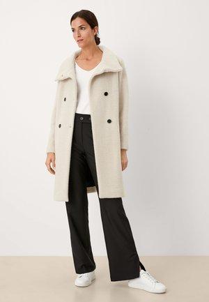 WEICHER MIT STRUKTURMUSTER - Classic coat - beige heringbone