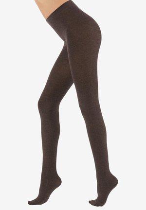 COLLANTS DOUX AVEC CACHEMIRE - Tights - dark brown