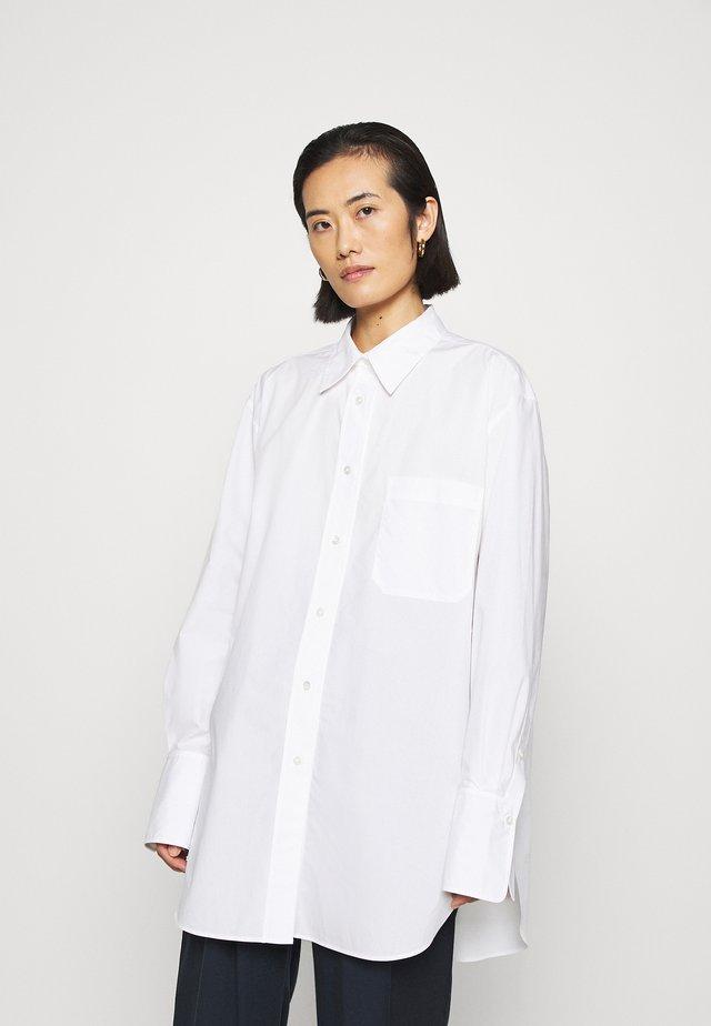 SHIRT - Button-down blouse - white light