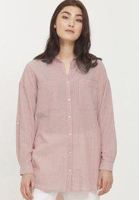 b.young - BYFIE STRIPE - Button-down blouse - canyon rose mix - 0