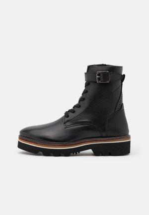CELIN - Šněrovací kotníkové boty - black