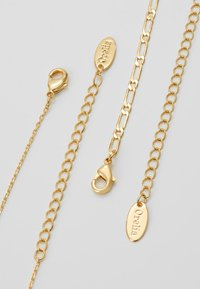 Orelia - SQUARE COIN CHAIN ROW NECKLACE 2-IN-1 - Necklace - pale gold-coloured - 3