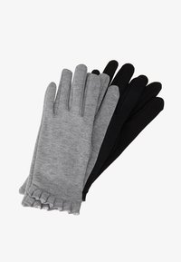 Dorothy Perkins - 2 PACK FRILL GLOVE - Rukavice - black - 0