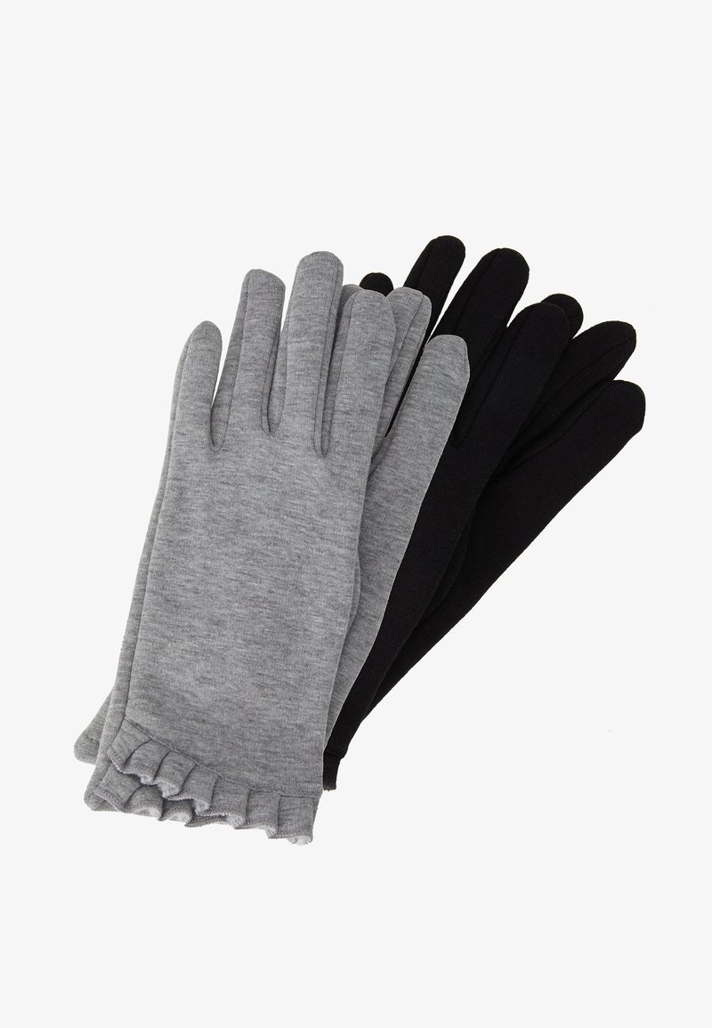 Dorothy Perkins - 2 PACK FRILL GLOVE - Rukavice - black