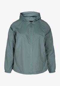 Zizzi - MIT REISSVERSCHLUSS UND KAPUZE - Summer jacket - green - 3