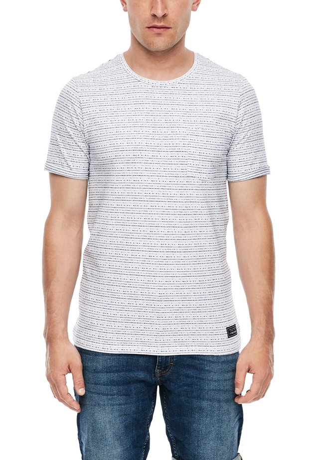 MIT WEBMUSTER - Basic T-shirt - white melange