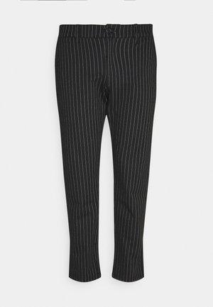 PLUS PONTE ROMA PLAN - Pantalon classique - black/white
