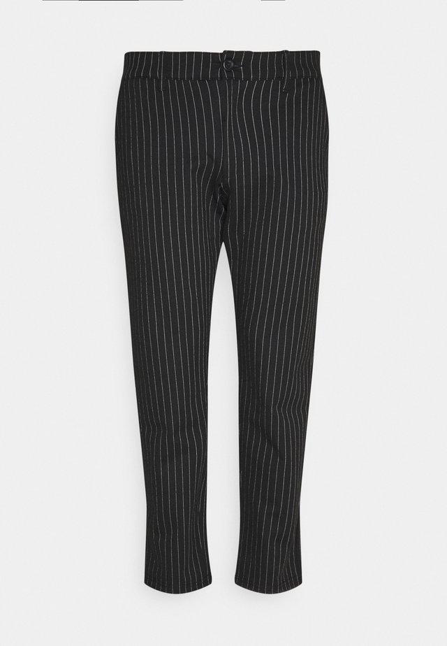 PLUS PONTE ROMA PLAN - Pantaloni - black/white