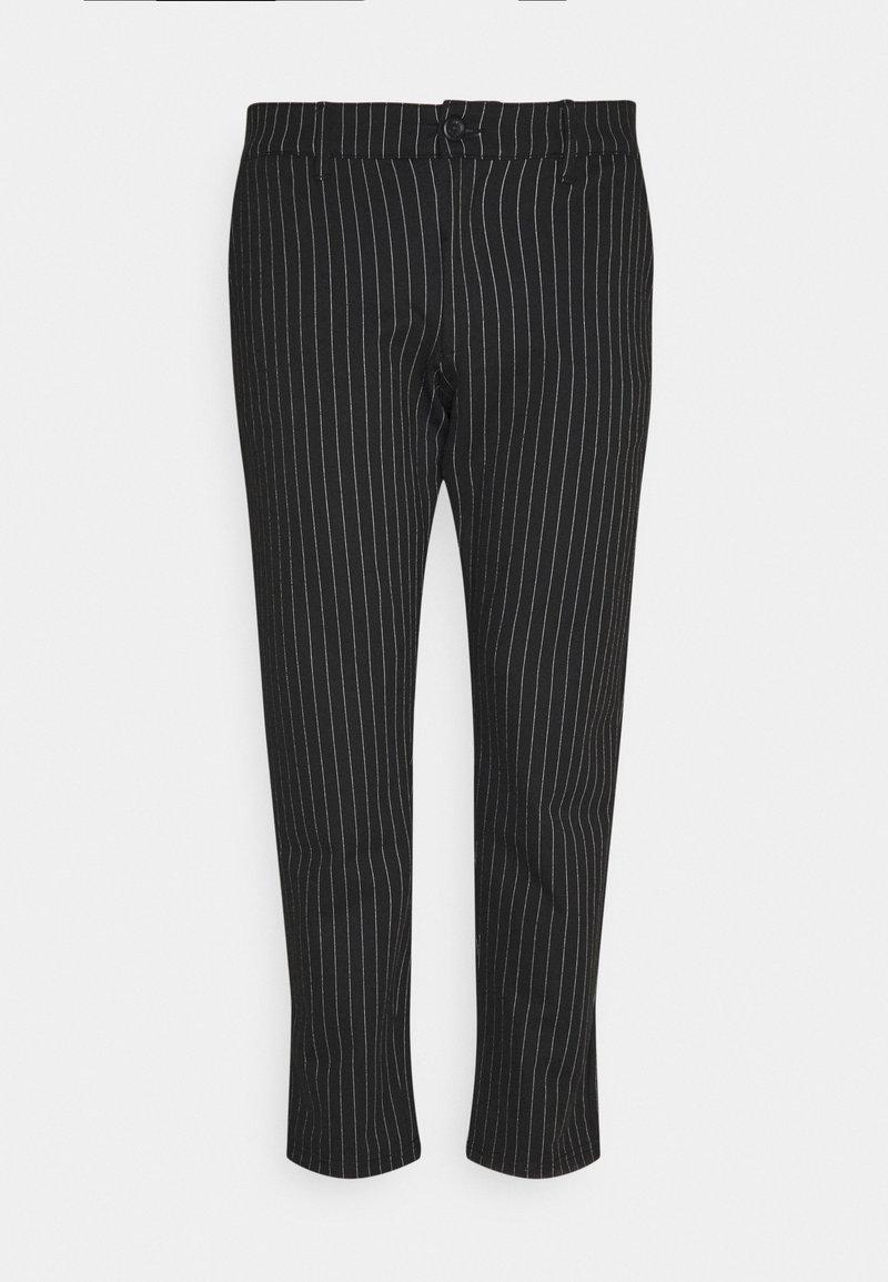 Denim Project - PLUS PONTE ROMA PLAN - Trousers - black/white