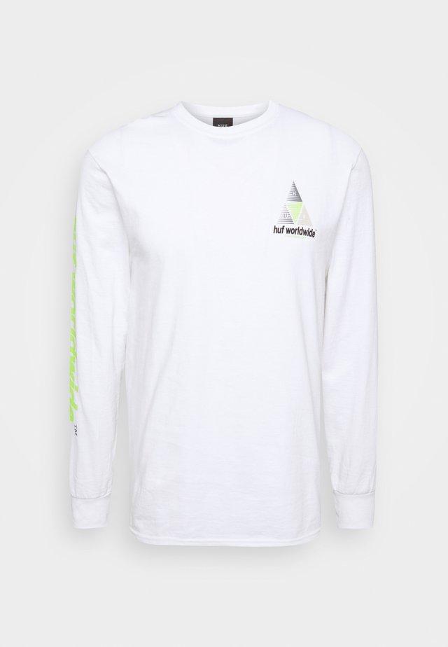 PRISM LOGO SPORTIF - Langærmede T-shirts - white