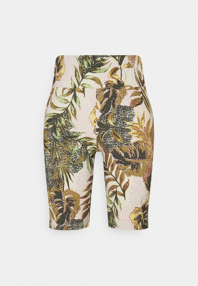 CINDY BIKER - Shorts - dull gold