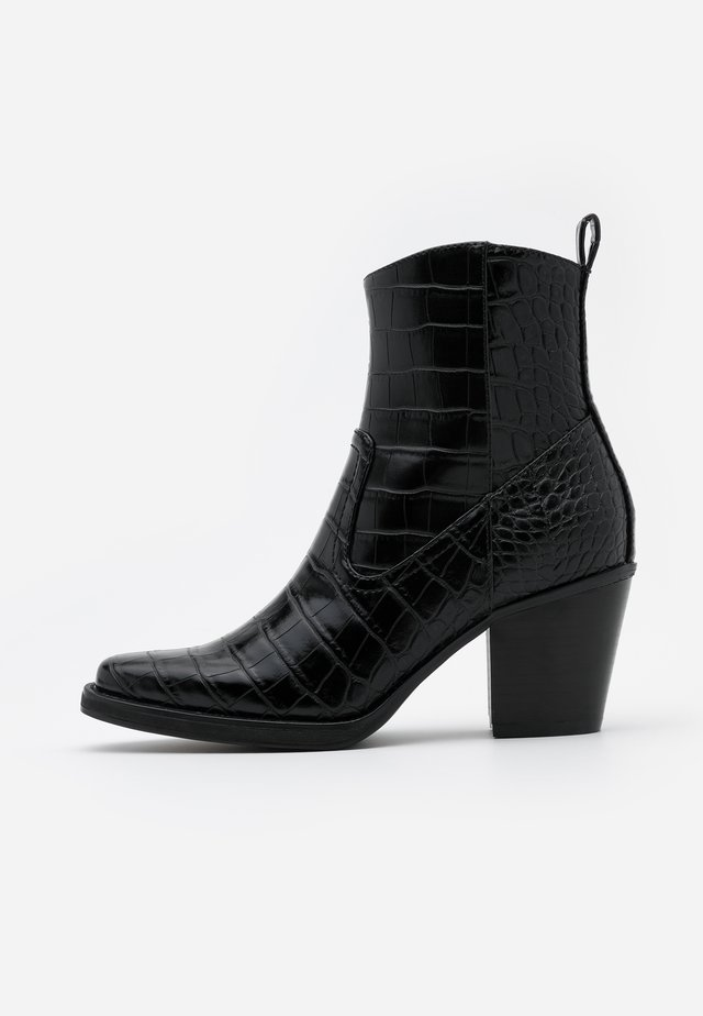 ONLBELIZE STRUCTUR HEELED BOOT - Bottines - black