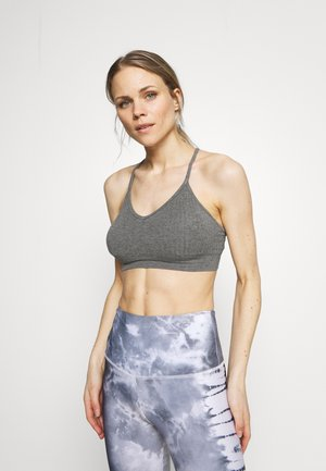 MINDFUL SEAMLESS YOGA BRA - Light support sports bra - charcoal grey marl
