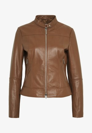 LORENAS - Leather jacket - rust/copper