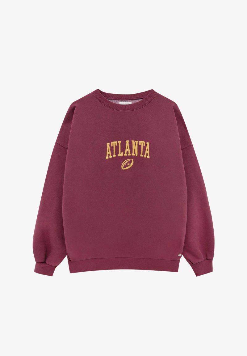 PULL&BEAR - Sweatshirt - dark red