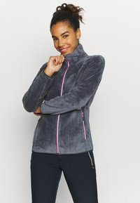 CMP - WOMAN JACKET - Fleece jacket - graffite-pink fluo - 0