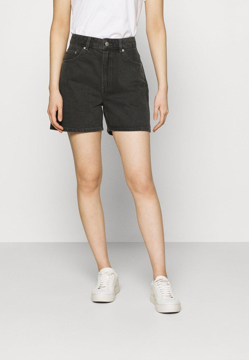 ARKET - SHORTS - Denim shorts - black