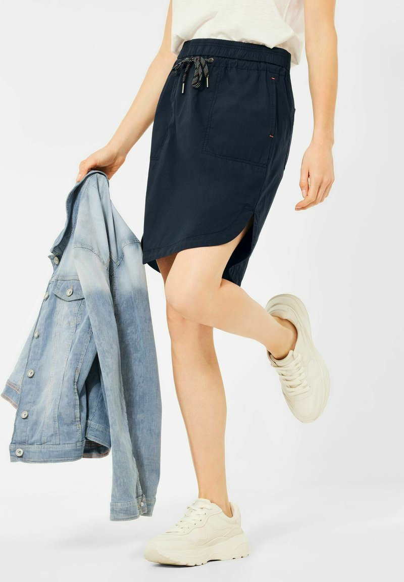 Cecil - Mini skirt - blau
