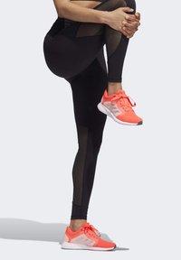 adidas Performance - BELIEVE THIS  -STRIPES MESH LONG LEGGINGS - Medias - black - 4