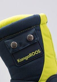 KangaROOS - BEAN - Zimní obuv - darkk navy/lime - 2