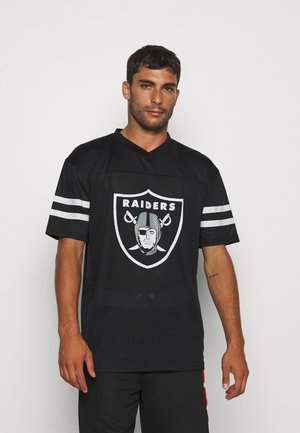 NFL LAS VEGAS RAIDERS OUTLINE LOGO OVERSIZED TEE - Club wear - black/white