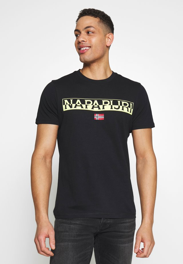 SARAS SOLID - T-shirt con stampa - black