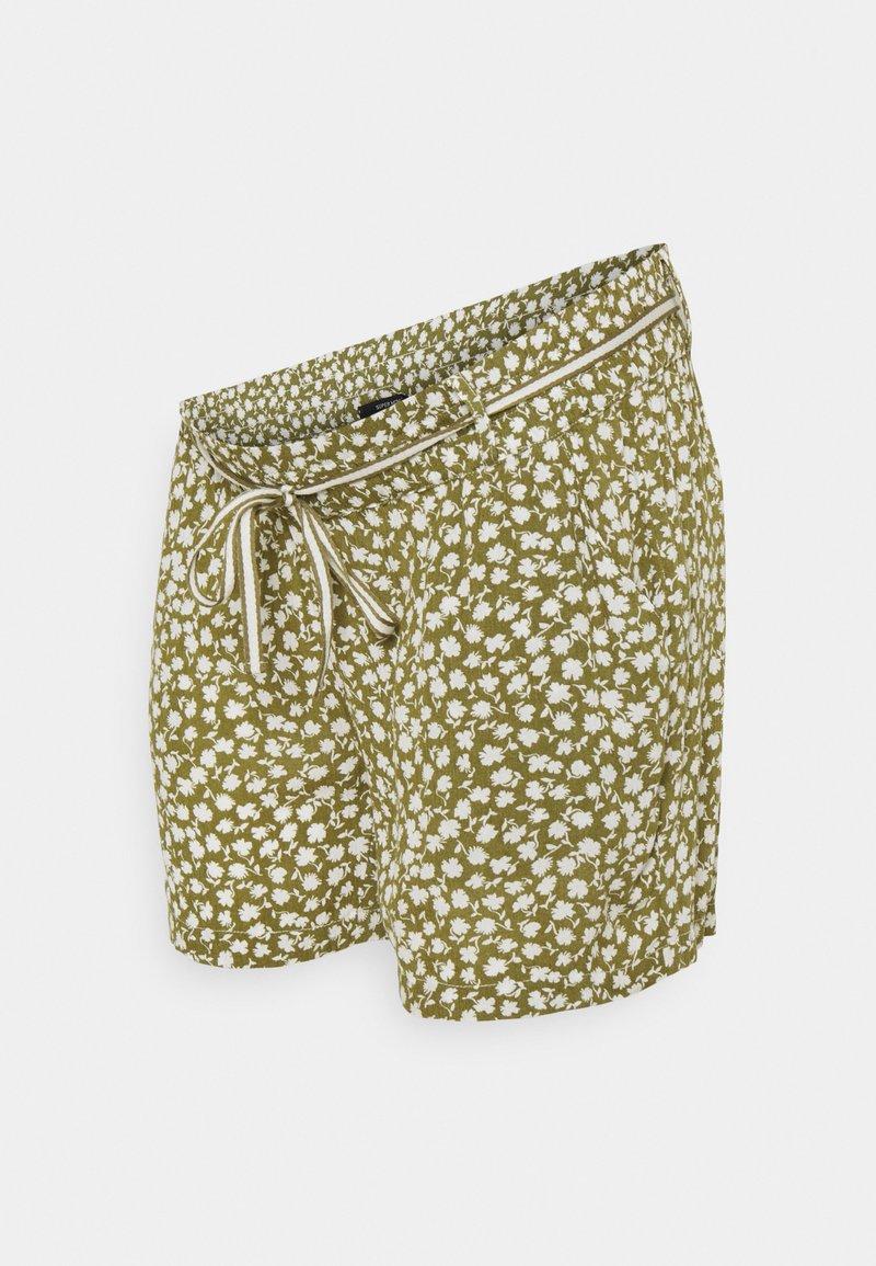 Supermom - FLOWER - Shorts - olive drap